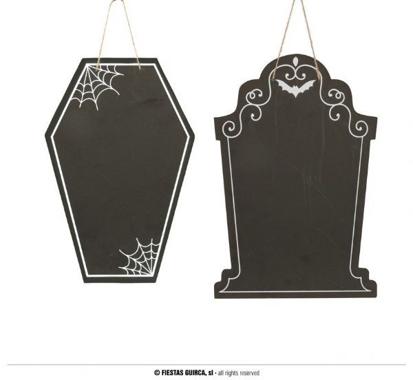 ASSORTED TOMBSTONE BLACKBOARD